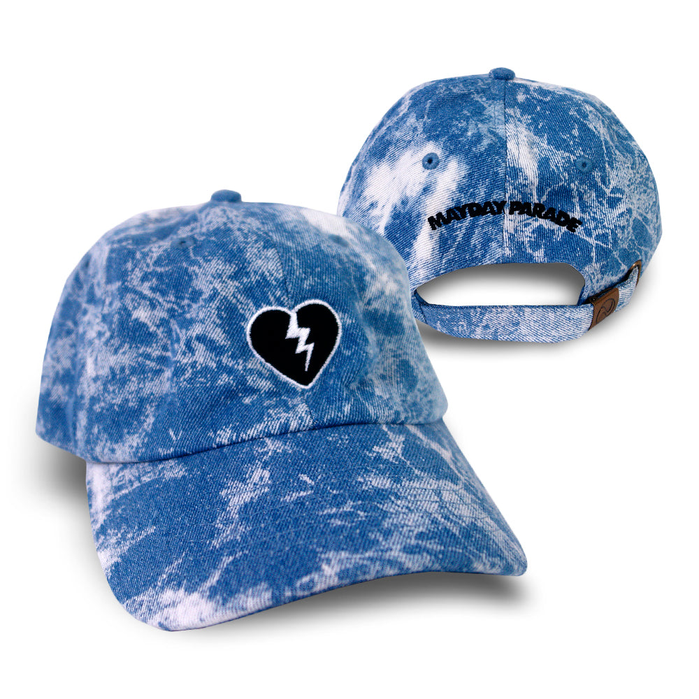 Broken Heart Light Bleach Denim Dad Hat