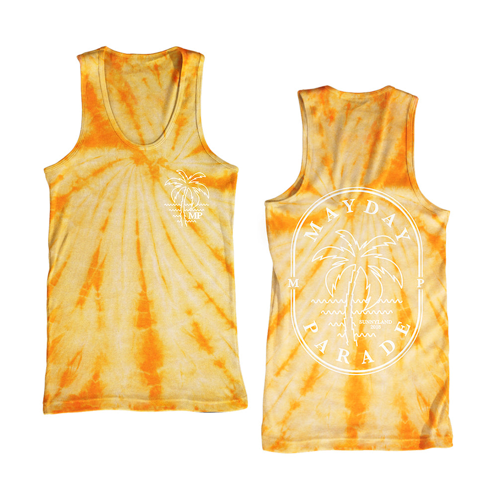Palm Gold Tie Dye Tank Top