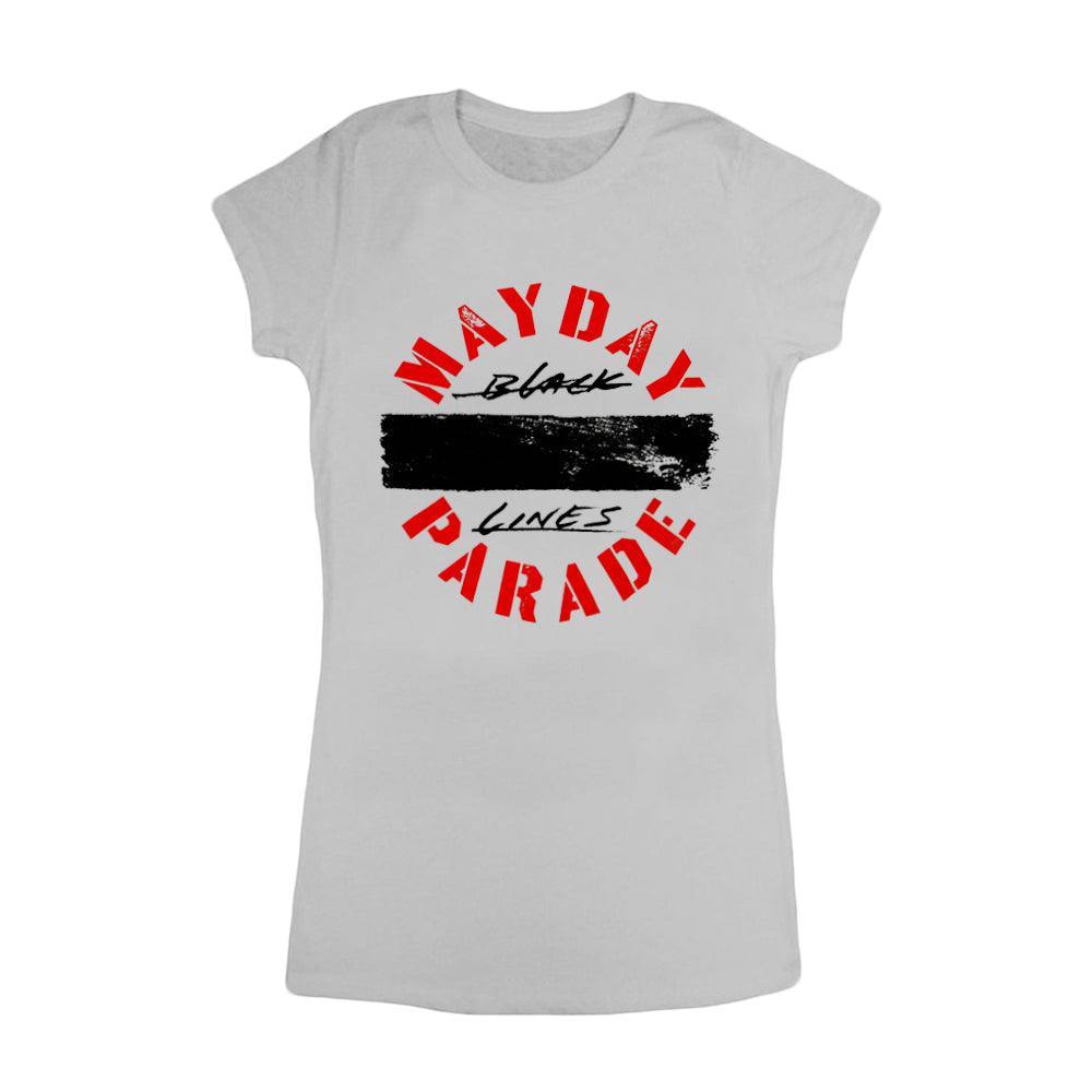 Black Lines Silver Women's T-Shirt