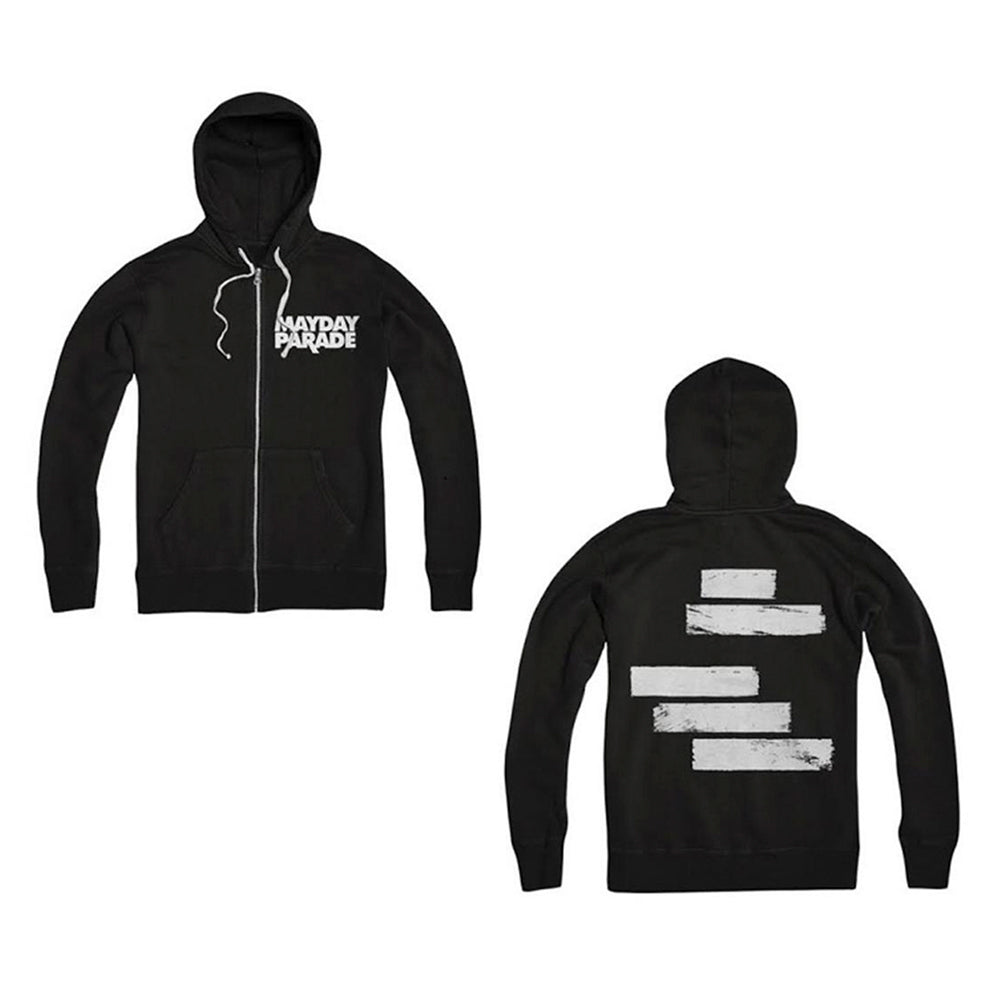Lines Black Zip-Up