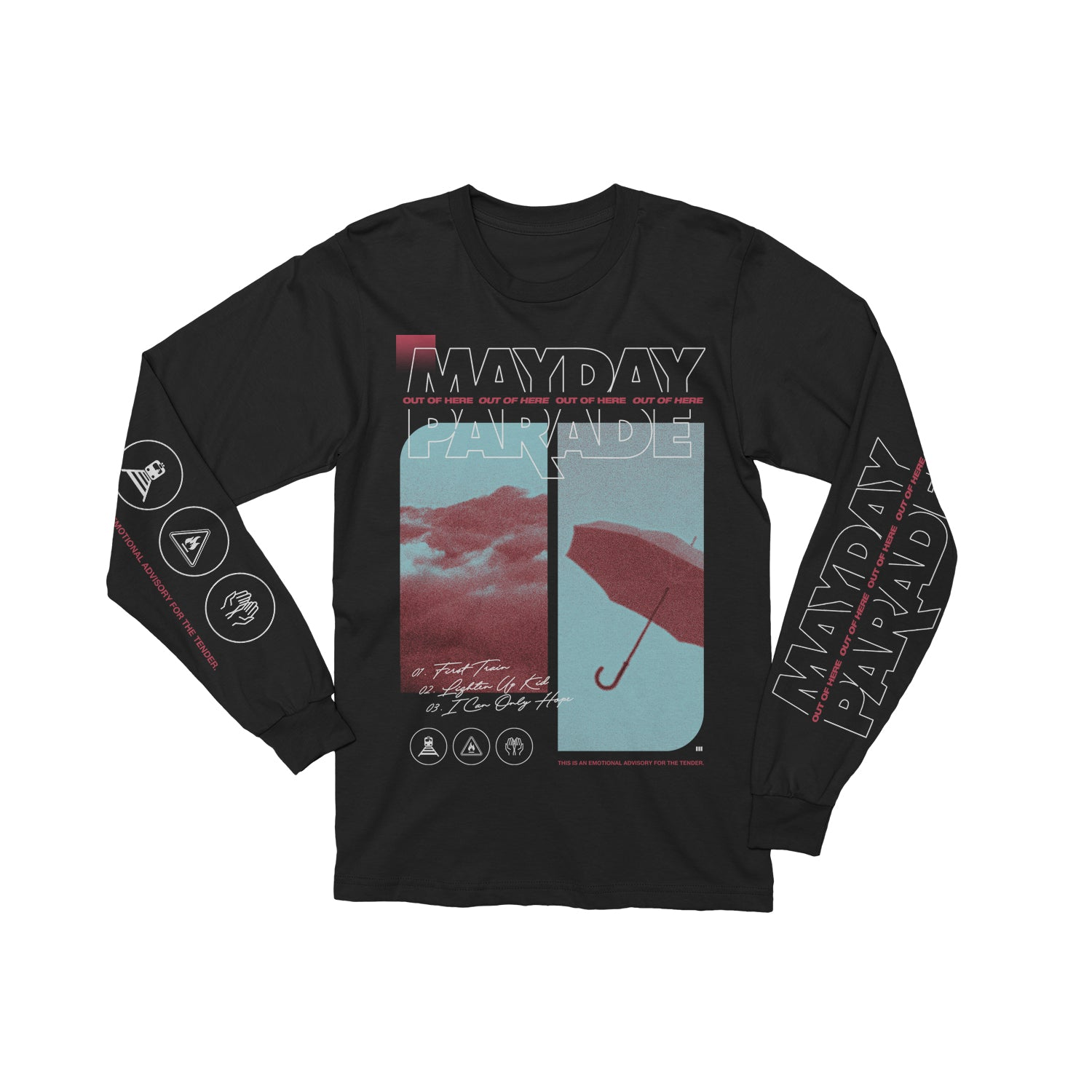 Out Of Here Black Long Sleeve Tee