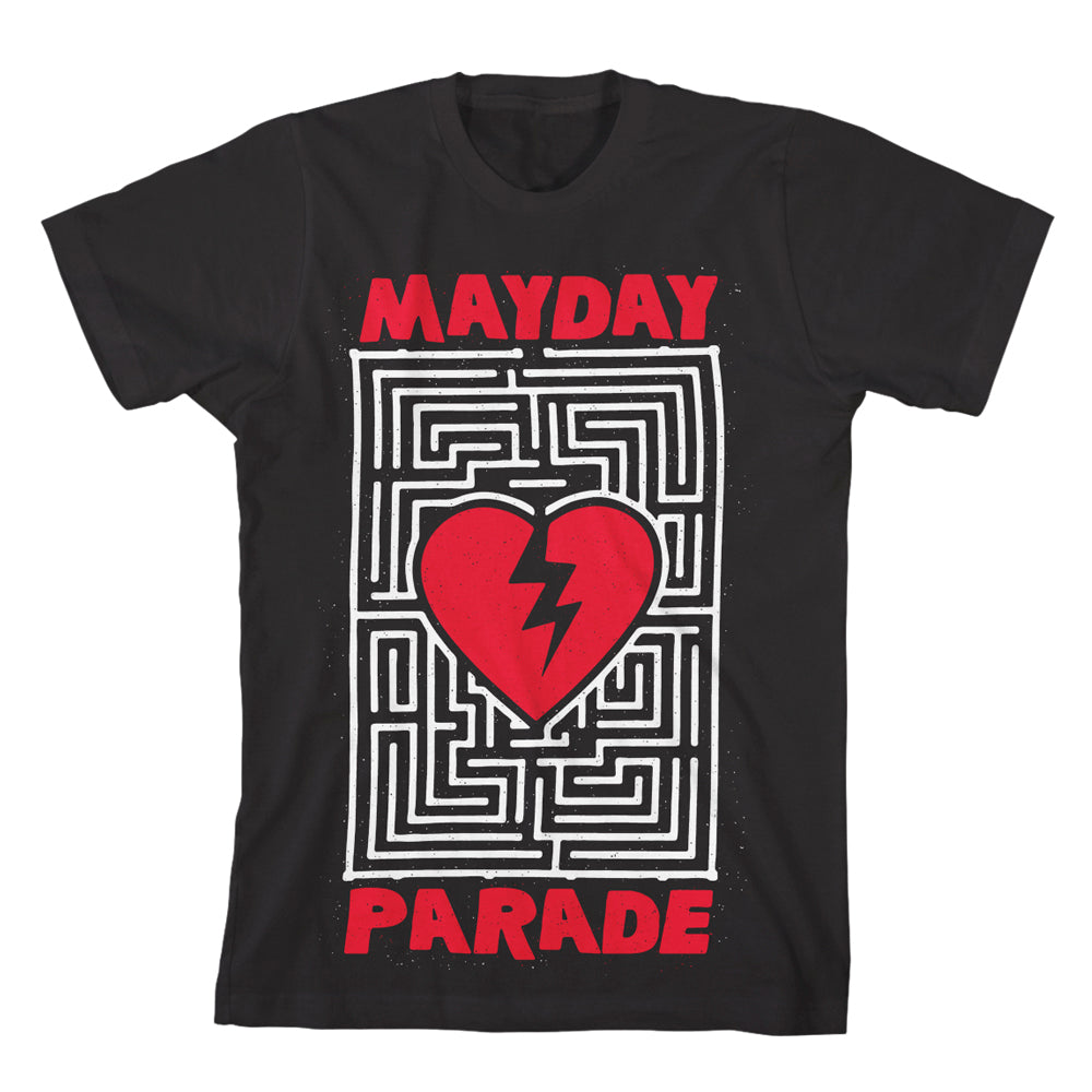 Heart Maze Black T-Shirt