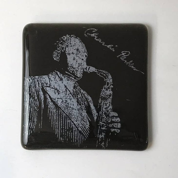Charlie Parker Glass Coaster
