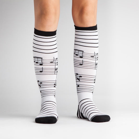 Foot Notes Knee High Socks