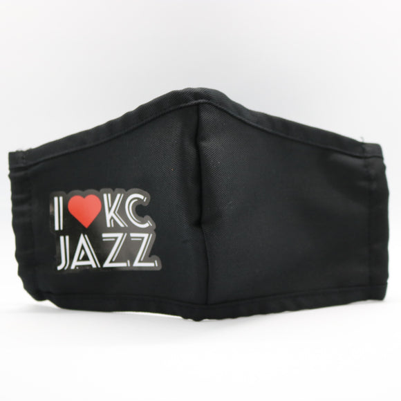 I Heart KC Jazz Face Mask