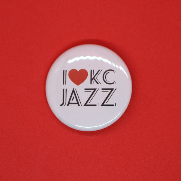 I Heart KC Jazz Button