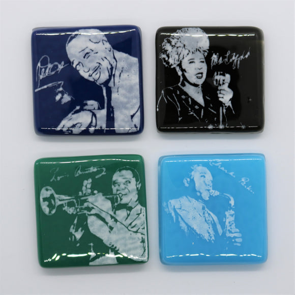 Jazz Masters Glass Magnet Set