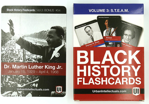 Black History Flashcards Volume 3: S.T.E.A.M (Science, Technology, Engineering, Arts and Mathematics)