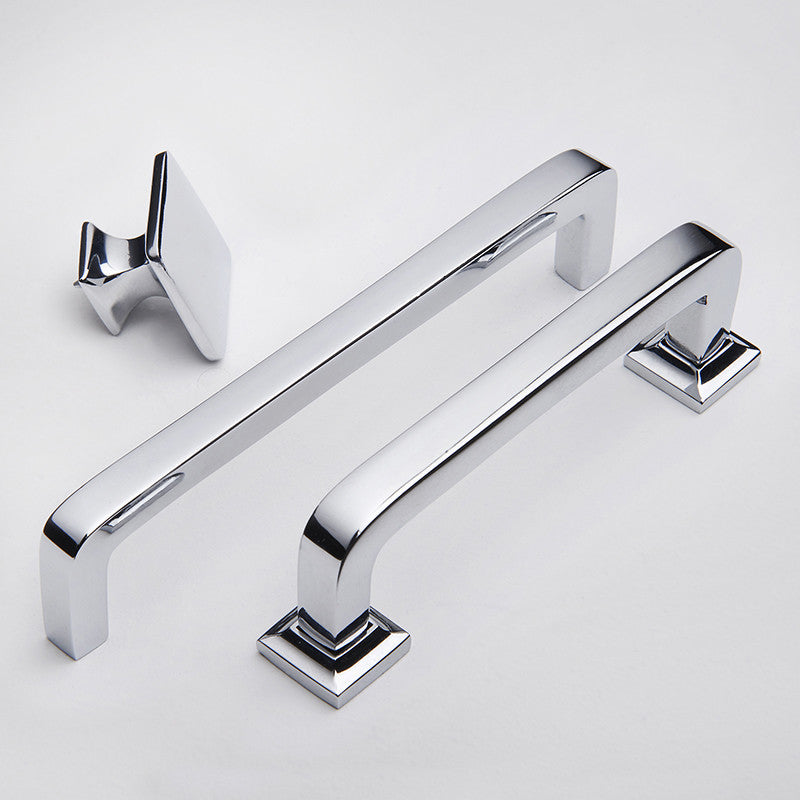 Bronte handles and door knob range in polished chrome