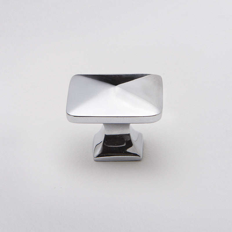 Bronte door knob in polished chrome