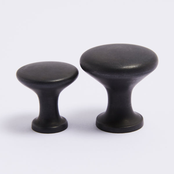 Ascot Knob Large - Scorched Black