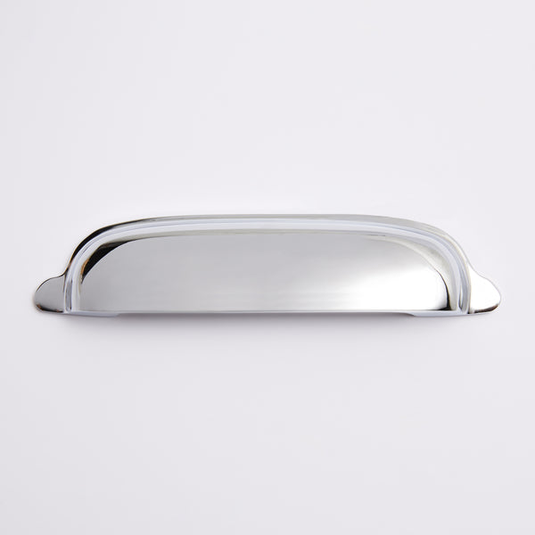 Halifax Hooded Cup Pull - Polished Chrome