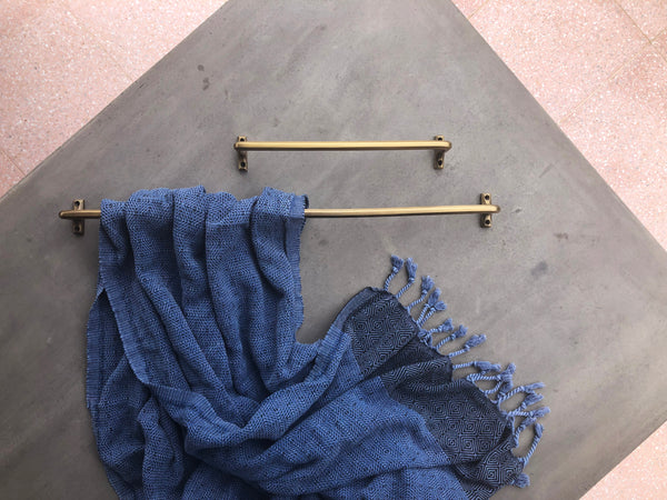 300mm Rail - Acid Washed Brass
