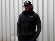 Load image into Gallery viewer, Contrast Muscle Hoodie / Black + Charcoal