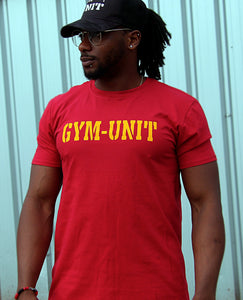 Muscle T-Shirt / Cardinal Red + Yellow