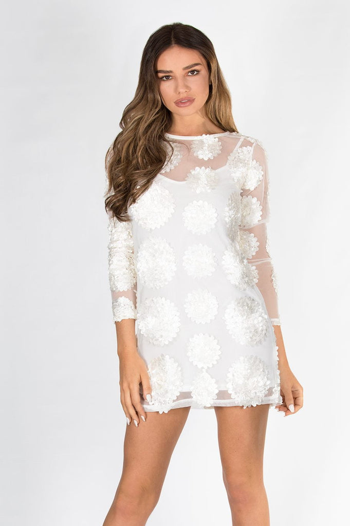 Flowerchild Tunic Top Dress In Cream