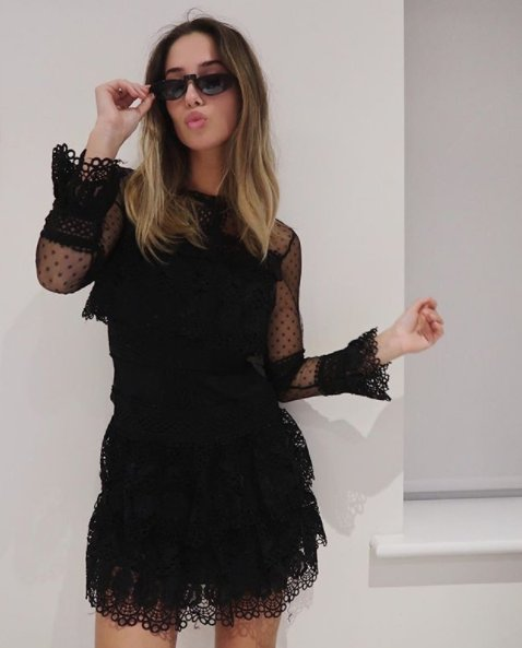 Barcelona Black Lace Dress