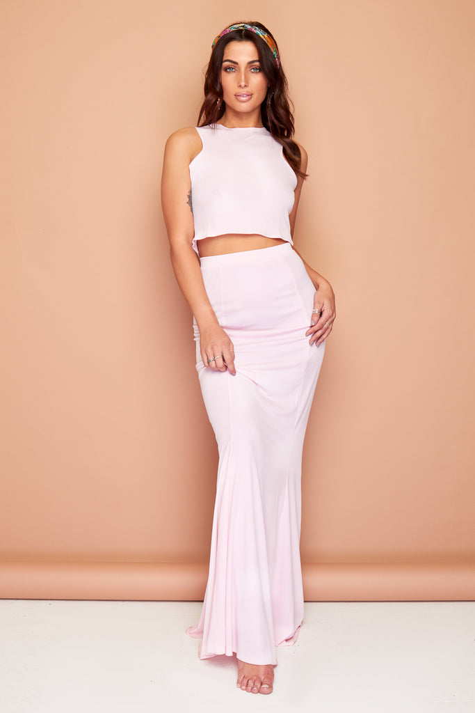 Gypsy Pink Summer Maxi Skirt and Top Set