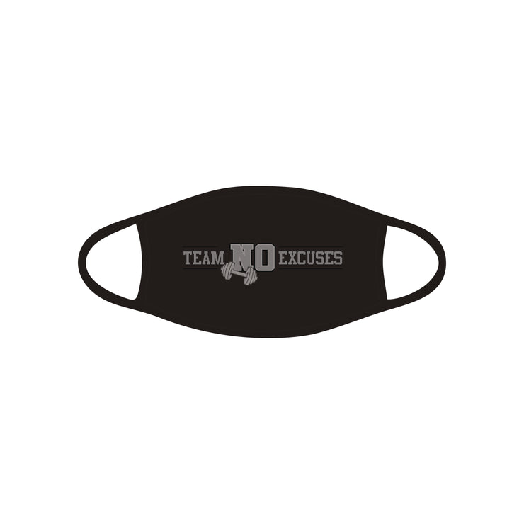 Team No Excuses Fabric Face Mask