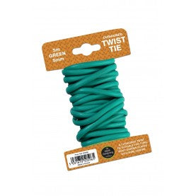 Twist Tie Cushioned 5mm Green