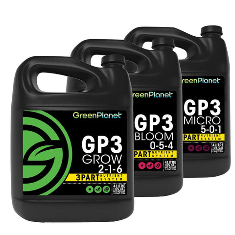 GP3 3 part nutrient system - Green Planet