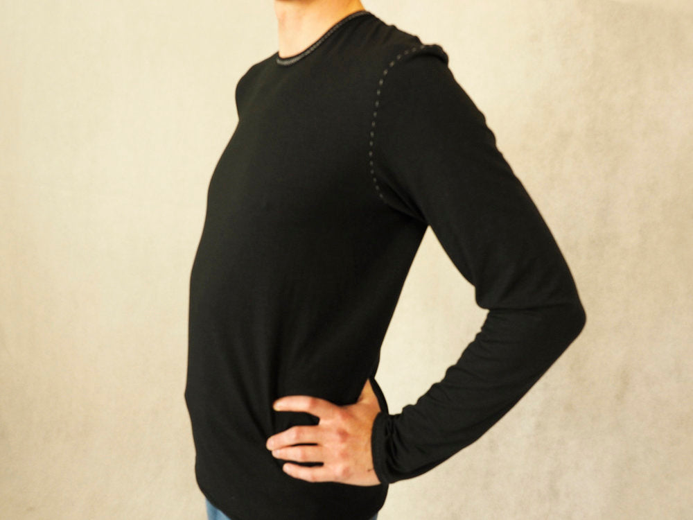 Mens long sleeve yoga top