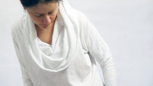 Load image into Gallery viewer, cowl neck top hood and scarf included