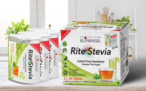 Rite Stevia Tablets in Dispenser 100 Count x 3