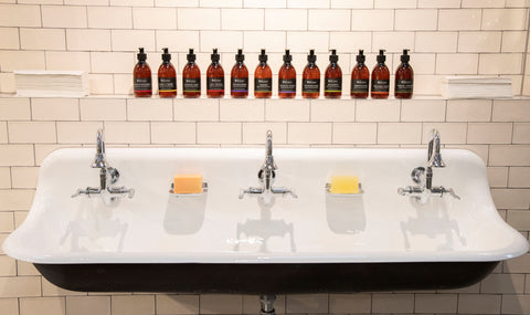 Highland Soap Company sink and products
