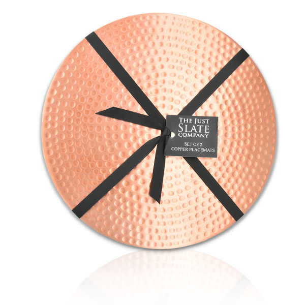 Round copper placemats - set of 2