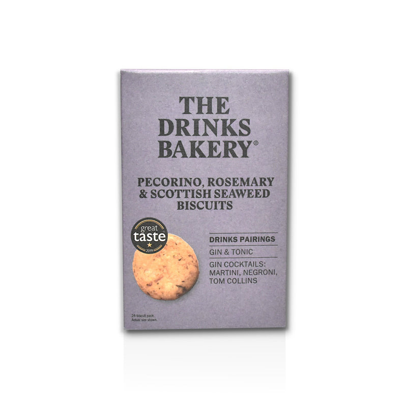 Packet of Drinks World Biscuits Pecorino rosemary and seaweed flavour