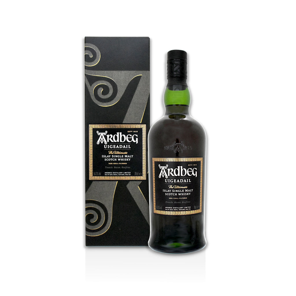 70cl bottle of Ardbeg Uigeadail Scotch whisky