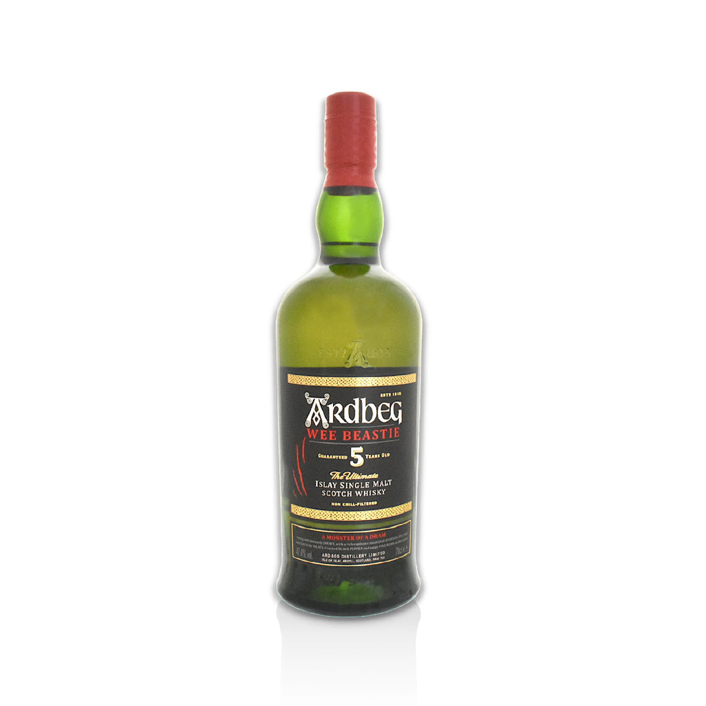 Bottle of Ardbeg wee beastie whisky 70cl