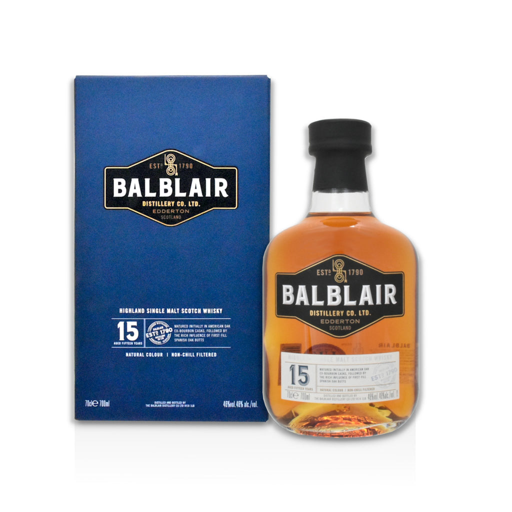 70cl bottle of Balblair 15 year old Scotch whisky