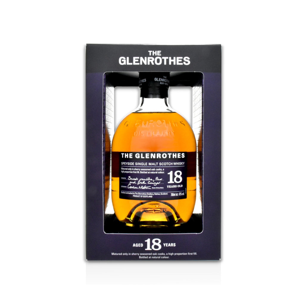 70cl bottle of Glenrothes 18 year old Scotch whisky