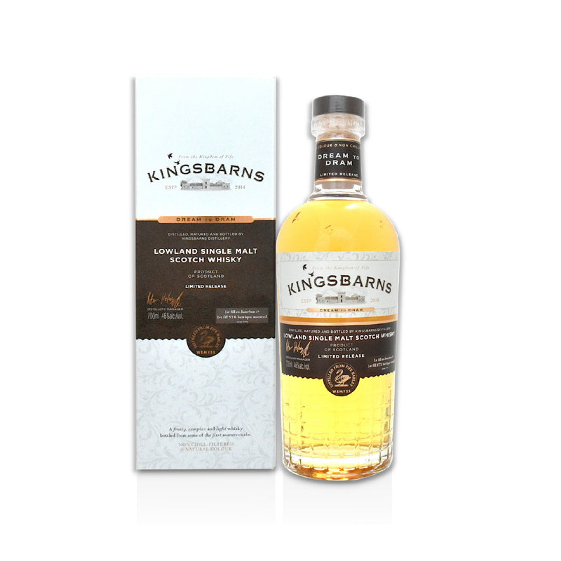 70cl bottle of Kingsbarns Dream to Dram Scotch whisky