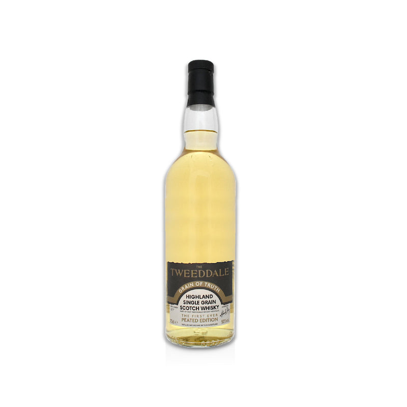 70cl bottle of Tweedale peated grain Scotch whisky