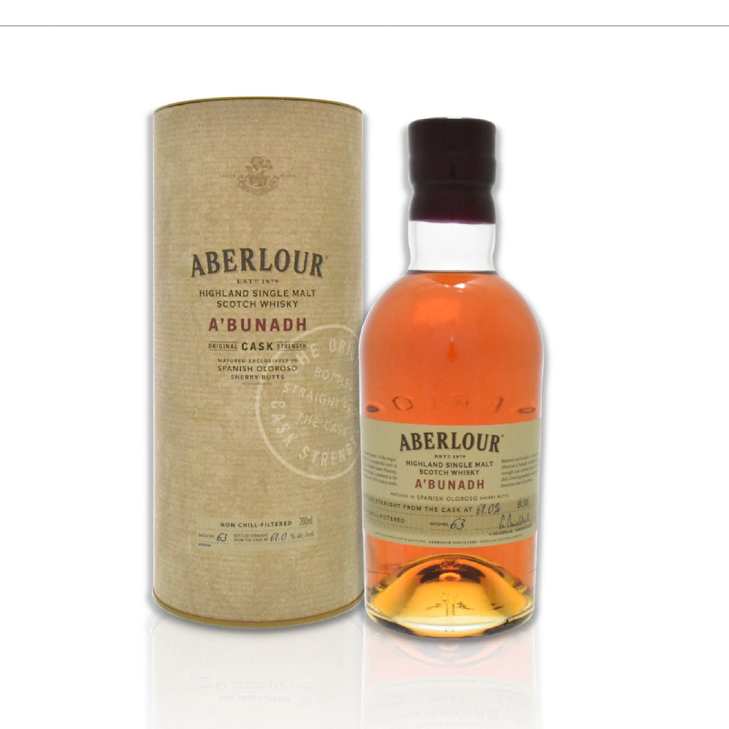 Bottle of Aberlour A'bunadh whisky