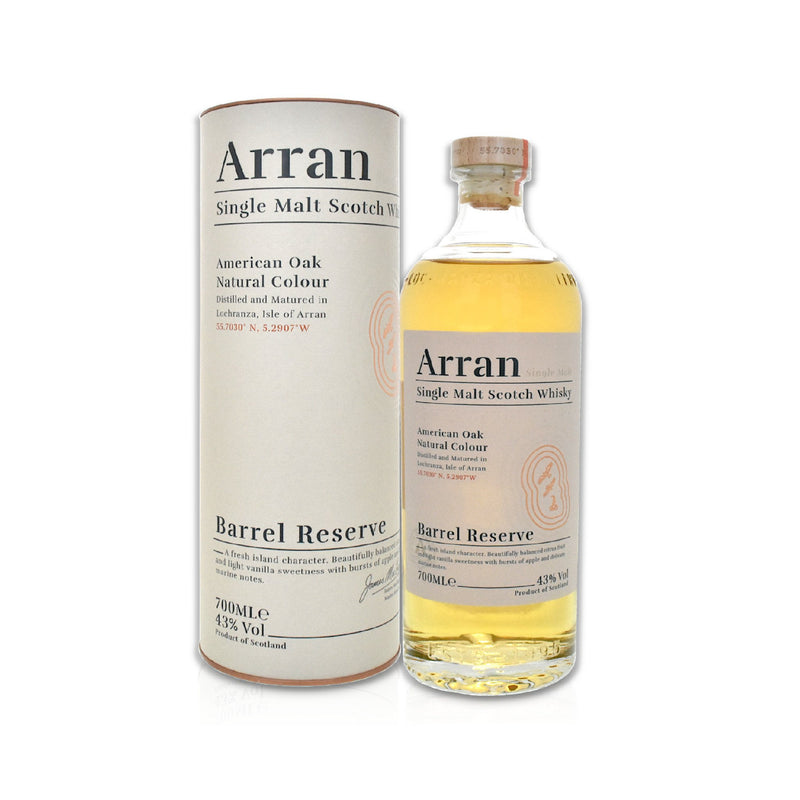 Bottle of Arran barrel reserve whisky 70cl