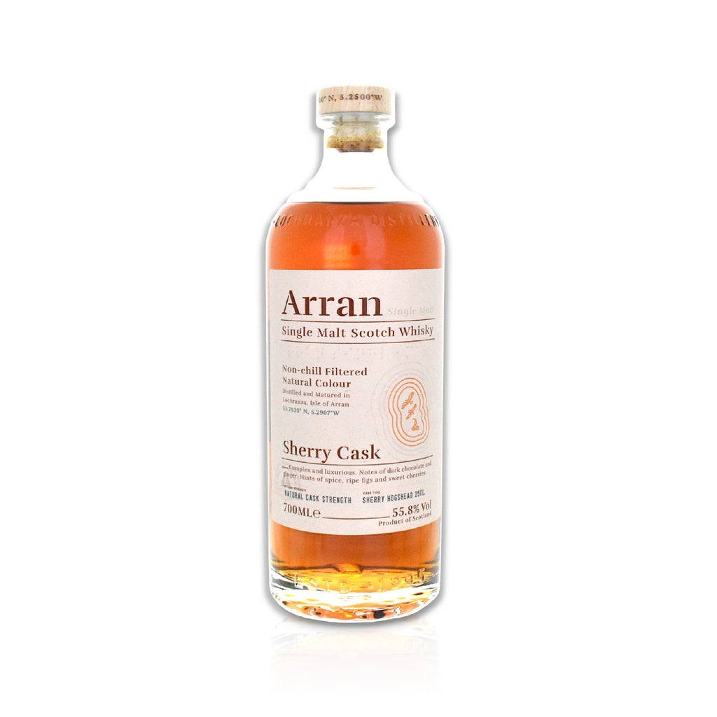 Bottle of Arran Bodega sherry cask whisky 70cl