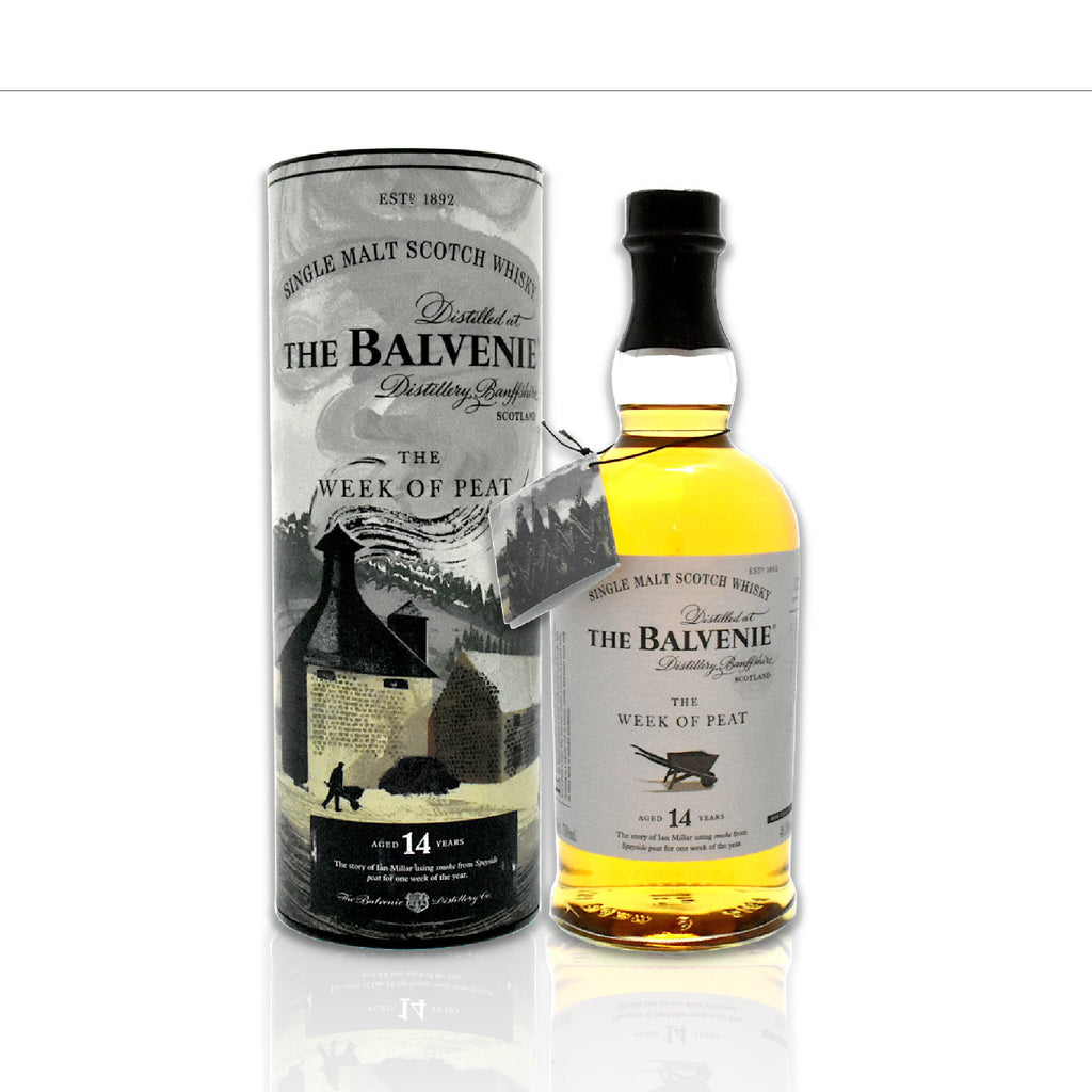 Bottle of Balvenie - The Week of Peat 14 year old whisky