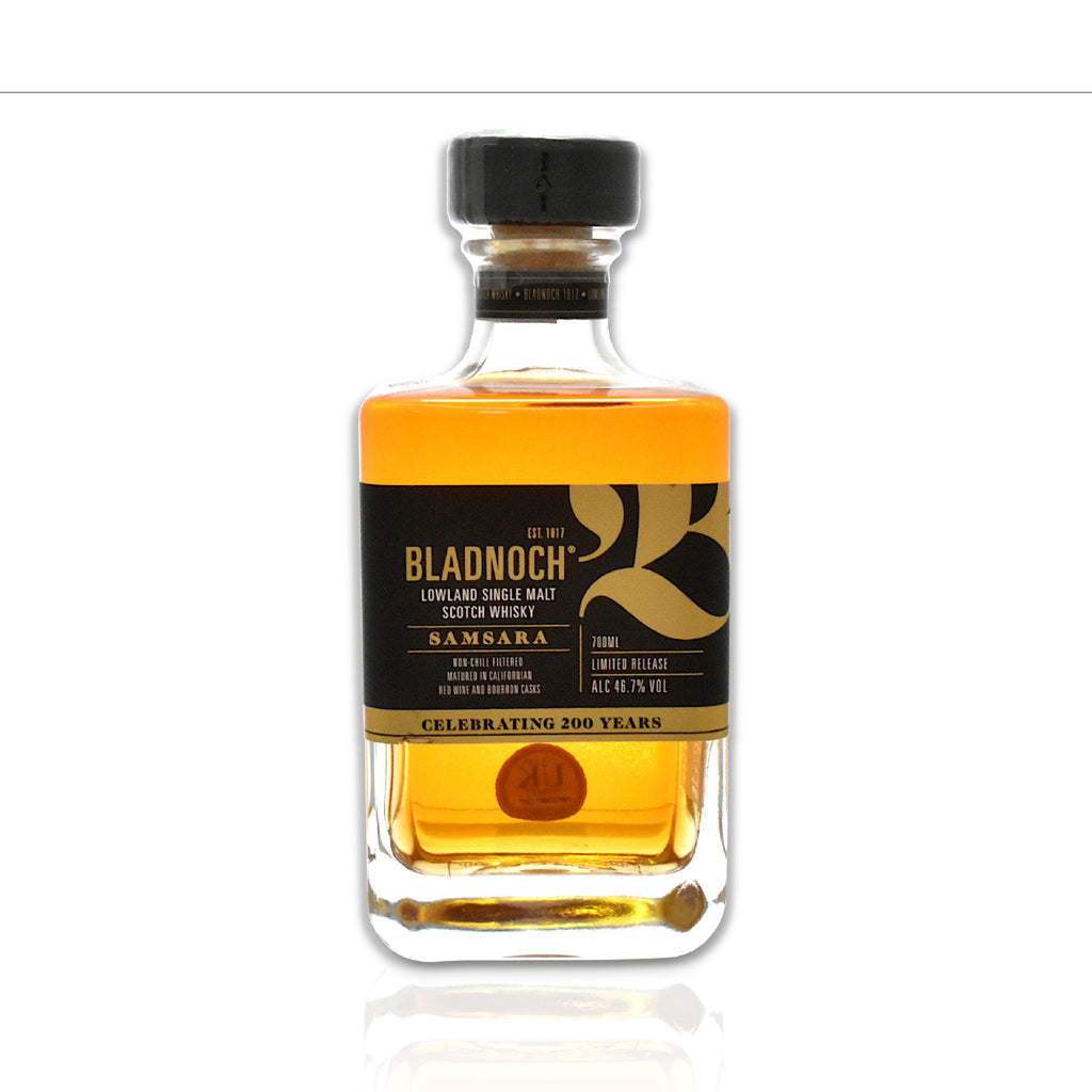 Bottle of Bladnoch Samsara whisky