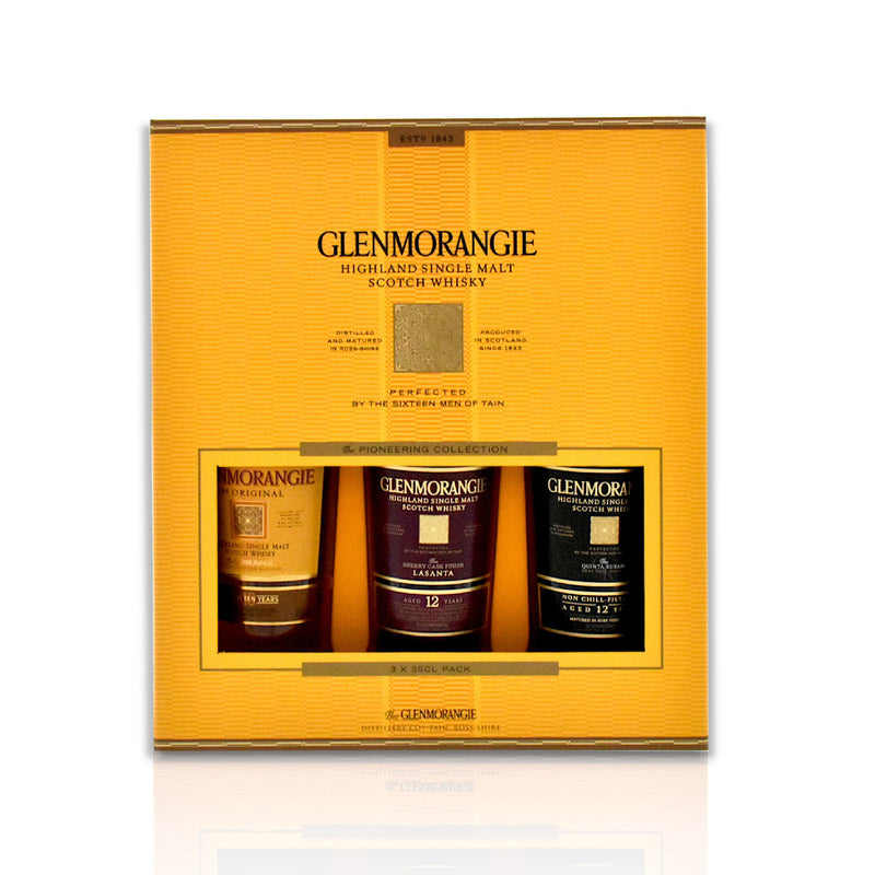 Glenmorangie whisky gift pack of 3 x 35cl bottles