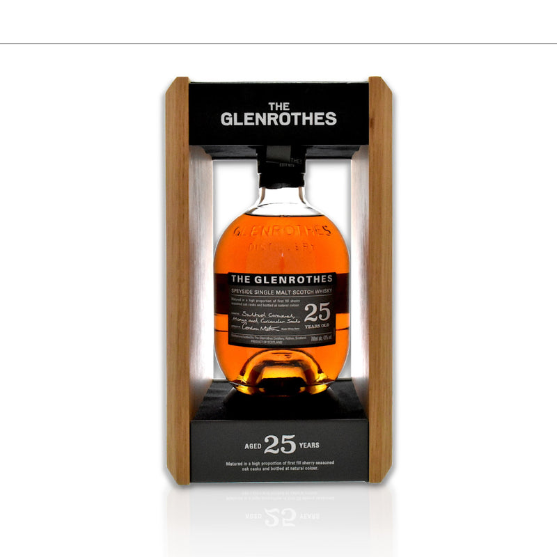 Bottle of The Glenrothes 25 year old whisky