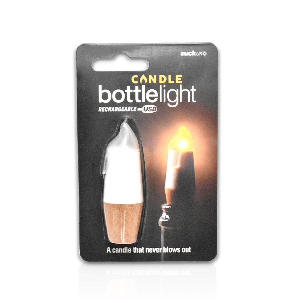 White bottle candle light