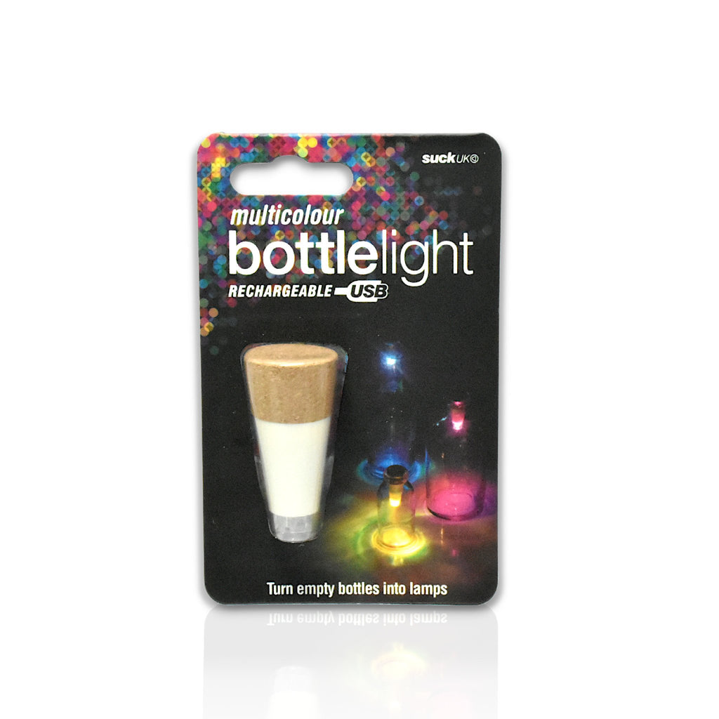 Multicoloured bottle lights