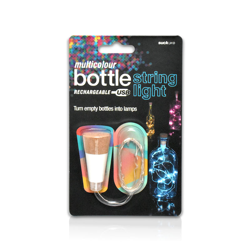 Multicolour bottle string lights