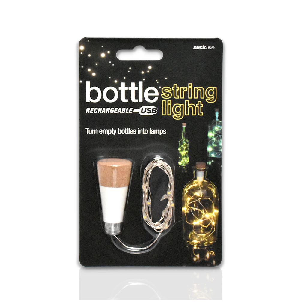 White bottle string lights