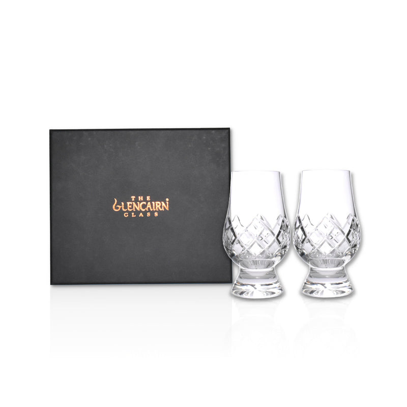 Crystal cut glencairn glass - Set of 2