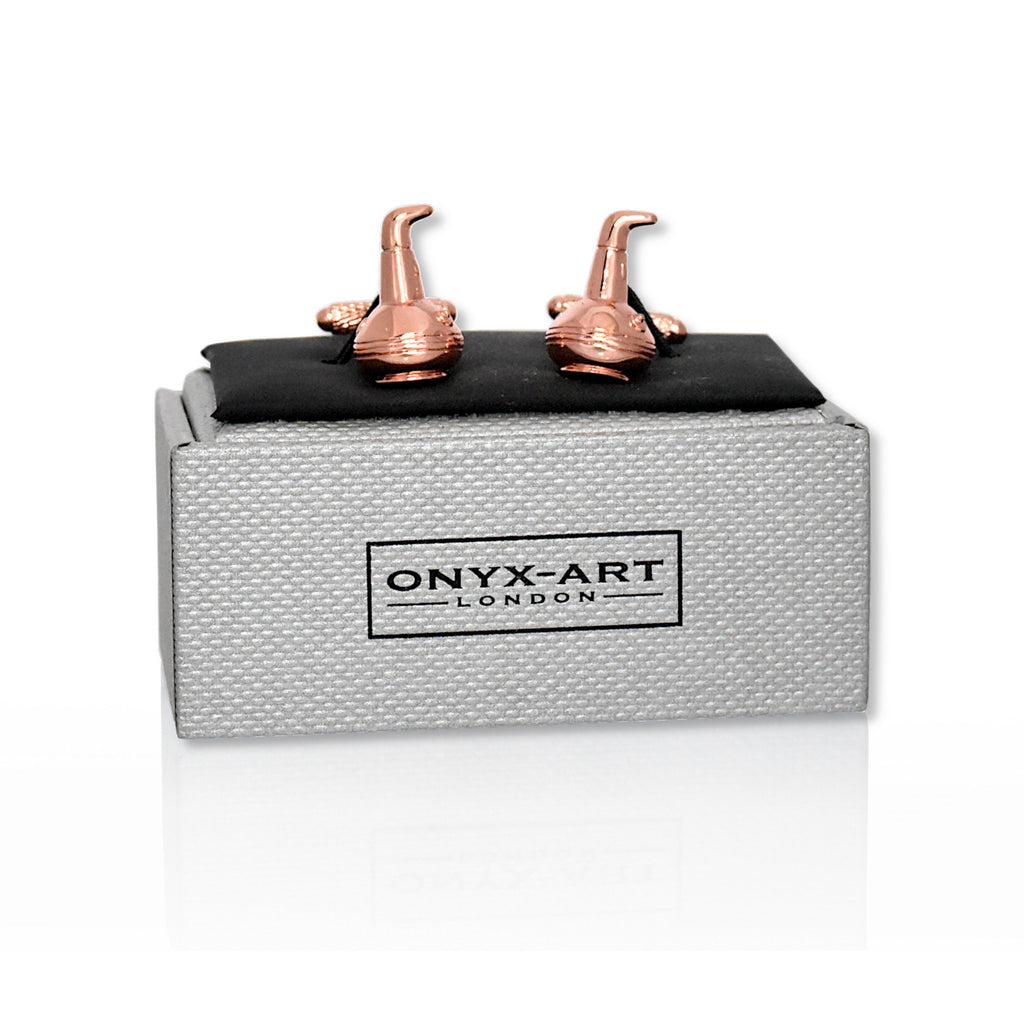 Copper still cufflinks